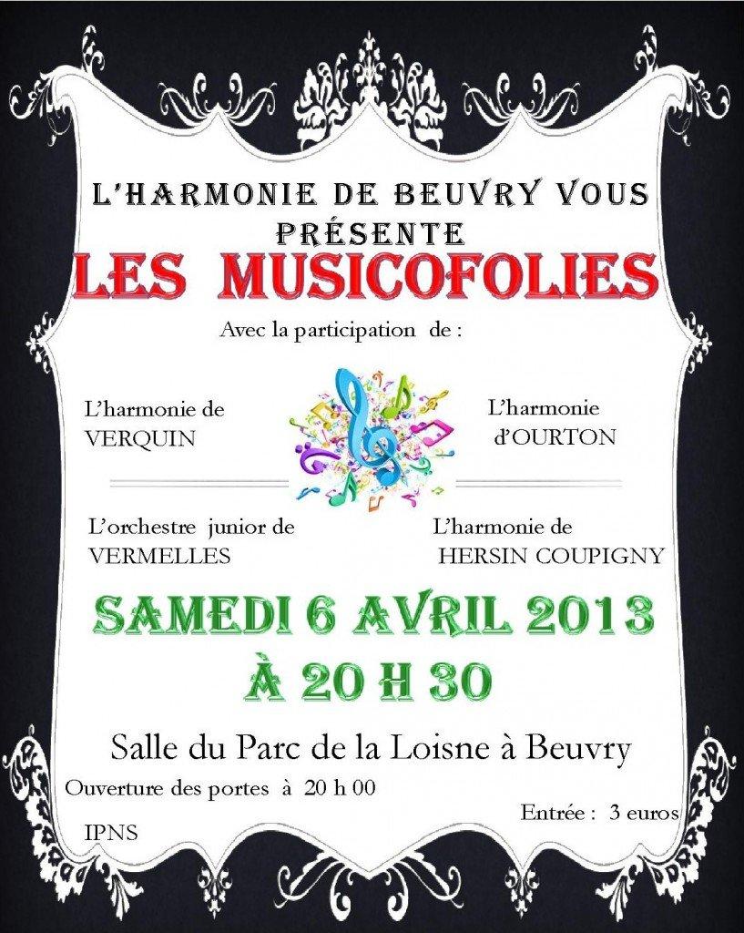5 formations musicales répètent à Beuvry pour les Musicofolies 2013 dans Harmonie de Beuvry affiche-musicofolies-2013