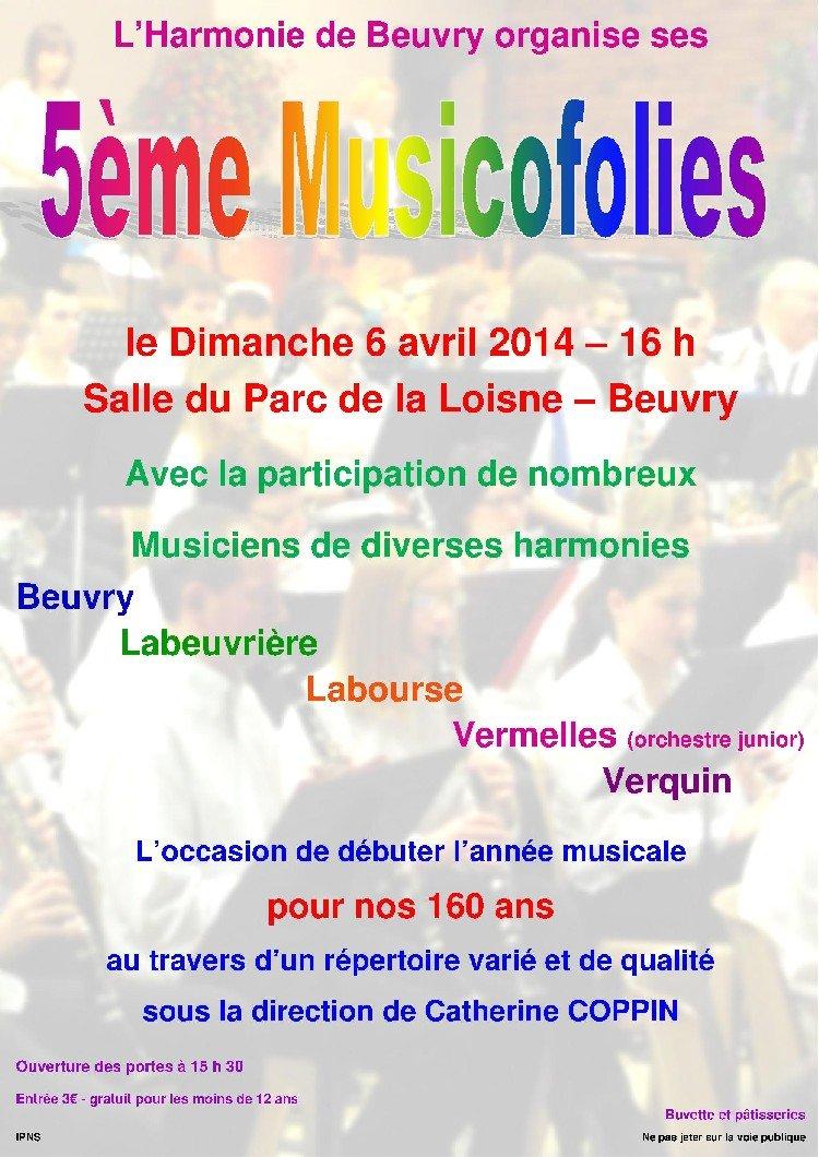 affiche harmonie beuvry avril 2014