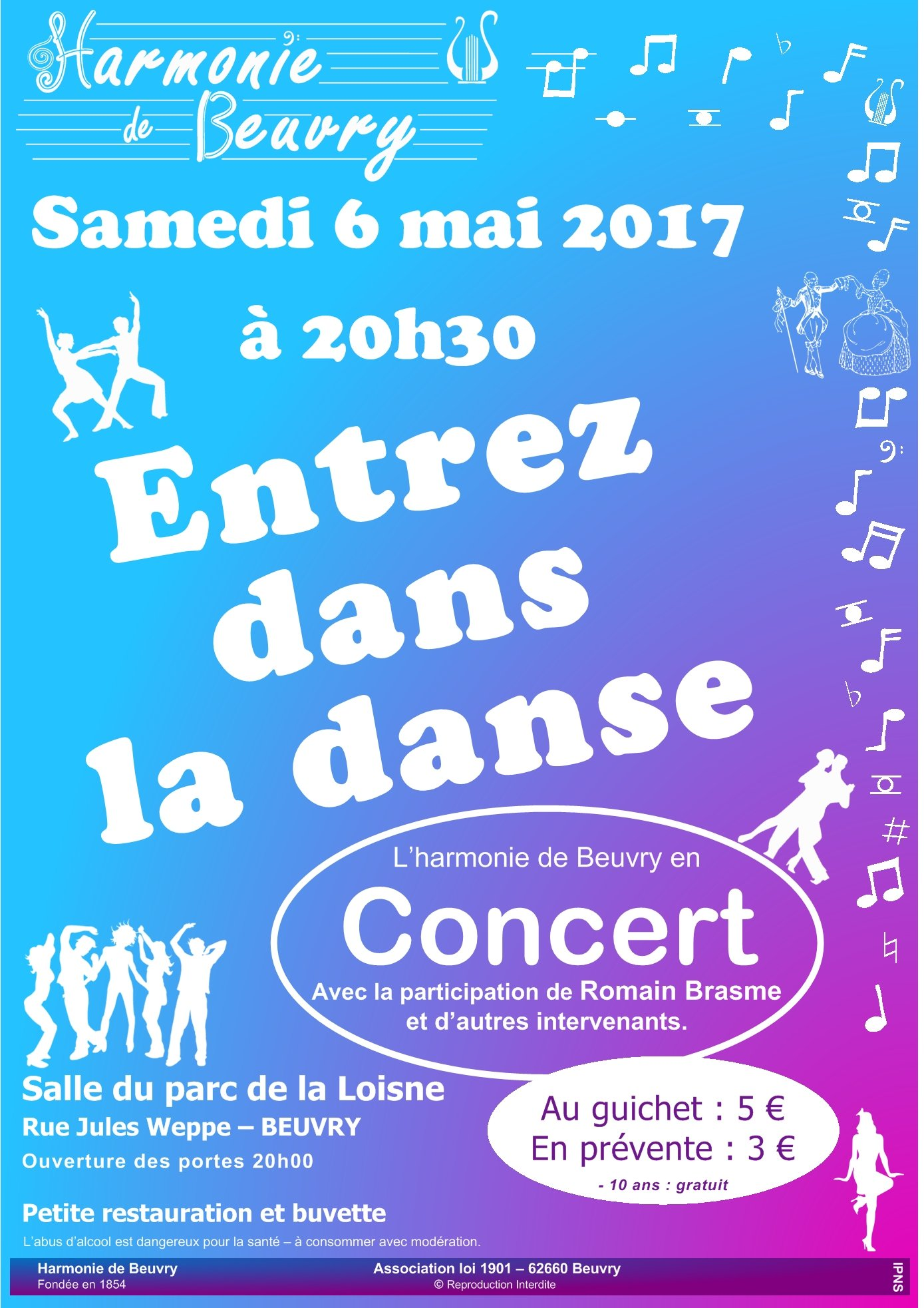 affiche concert beuvry