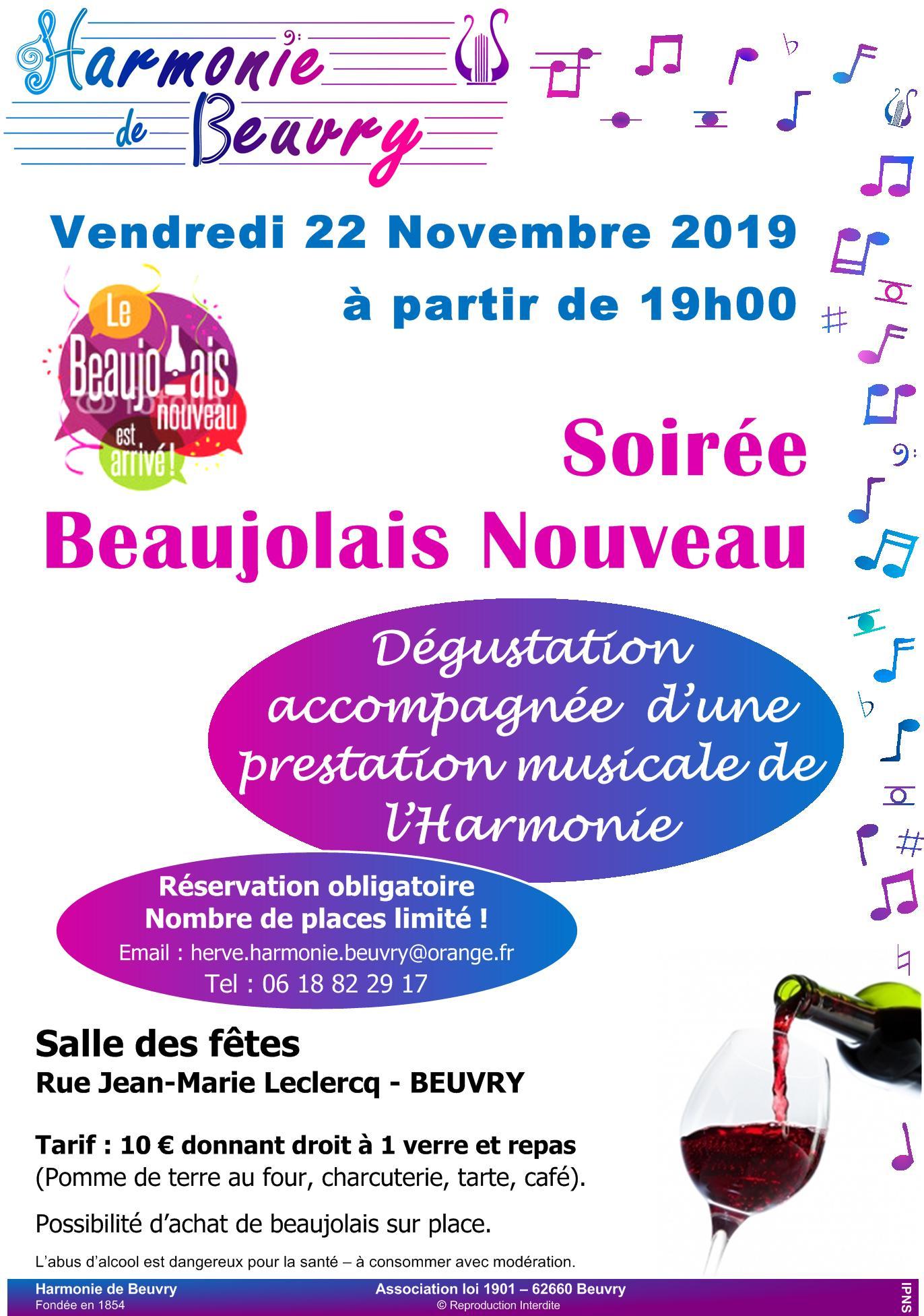 soirée beaujolais 2019 Beuvry